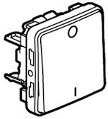 70727 Plexo Белый Выключатель 2-полюсный