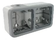 70742 Plexo Arctic Антибактериальный Монтажная коробка 2-ая для наружного монтажа,горизонтальная