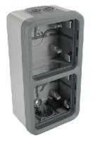 70743 Plexo Arctic Антибактериальный Монтажная коробка 2-ая для наружного монтажа,вертикальная
