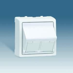 73086-63 73 Алюминий Накладка 2-ой тлф/комп розетки(для 2-х коннекторов RJ45)