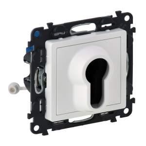 752125 Valena Life Белый Выключатель с ключом,2 положения.10А 230В (с лицевой панелью)