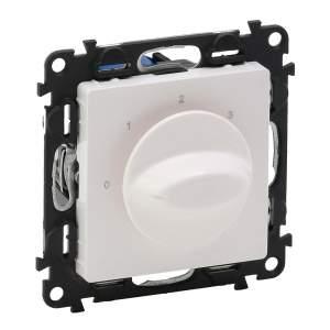 752132 Valena Life Белый Выключатель вентилятора 4-позиционный (с лицевой панелью)
