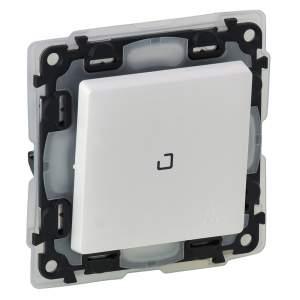 752161 Valena Life Белый IP44 Выключатель 1-клавишный с подсветкой 10АХ 250В (с лицевой панелью)