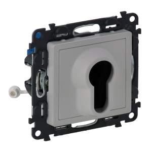 752325 Valena Life Алюминий Выключатель с ключом,2 положения.10А 230В (с лицевой панелью)