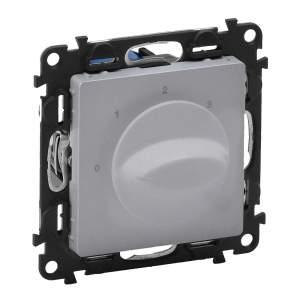 752332 Valena Life Алюминий Выключатель вентилятора 4-позиционный (с лицевой панелью)