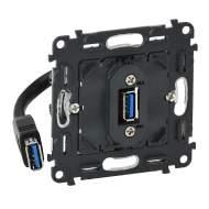 753082 Valena IN'MATIC Розетка USB 3.0 с подключенным кабелем 15см и разьемом