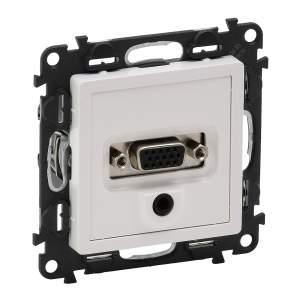 753170 Valena Life Белый Розетка 1-ая HDMI  (с лицевой панелью)
