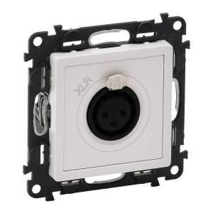 753173 Valena Life Белый Аудиорозетка с 3-контактным гнездом XLR (с лицевой панелью)