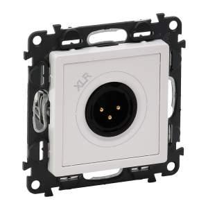 753174 Valena Life Белый Аудиорозетка с 3-контактной вилкой XLR (с лицевой панелью)