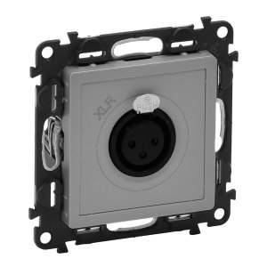 753373 Valena Life Алюминий Аудиорозетка с 3-контактным гнездом XLR (с лицевой панелью)