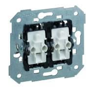 75394-39 75 Выключатель 2-клавишного с подсветкой