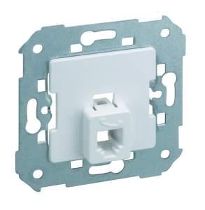 75480-33 75 Розетка ТЛФ с супортом 4 контакта, алюминий