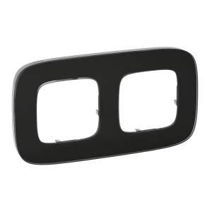 755532 Valena Allure Черное стекло Рамка 2-ая