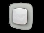 755543 Valena Allure Белое стекло Рамка 3-ая