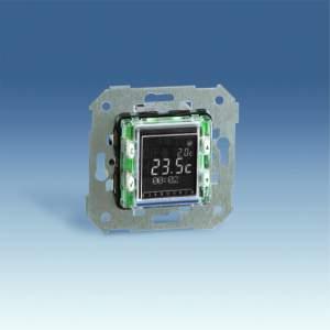 75817-39 75 Термостат с таймером цифровой, ЖК дисплей, 8А 230В, S27,82,82N,82C,88, механизм