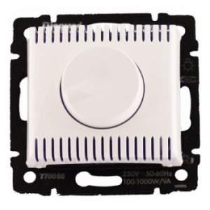 770060 Valena Бел Светорегулятор поворотный 100-1000W для л/н, галог. ламп с обмоточным т-ром
