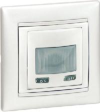 770089 Valena Бел Датчик движения Комфорт 1000 Вт, с N-клемой (3-х проводная схема подключения)