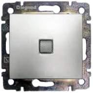 770110 Valena Алюминий Выключатель 1-клавишный с подсветкой