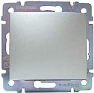 770111 Valena Алюминий Выключатель кнопочный 1-клавишный