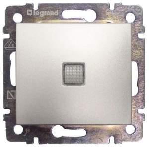 770126 Valena Алюминий Переключатель 1-клавишный с подсветкой