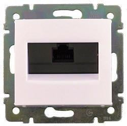 770141 Valena Алюминий Розетка комп(RJ45) 1-ая 5 кат ISDN 300MHz 8конт