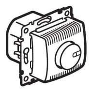 770260 Valena Алюминий Светорегулятор поворотный 100-1000W для л/н, галог. ламп с обмоточным т-ром