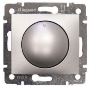 770261 Valena Алюминий Светорегулятор поворотный 40-400W для ламп накаливания (вкл поворотом)