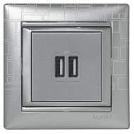 770270 Valena Алюминий Розетка 2-ая USB