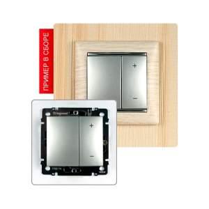 770274 Valena Алюминий Светорегулятор нажимной 40-600W для л/н и обмоточных т-ров