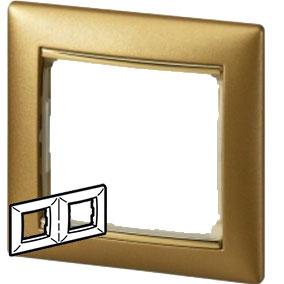 770302 Valena Матовое Золото Рамка 2-ая гориз