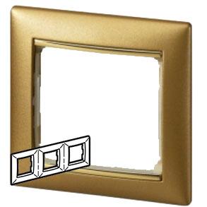 770303 Valena Матовое Золото Рамка 3-ая гориз