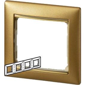 770304 Valena Матовое Золото Рамка 4-ая гориз