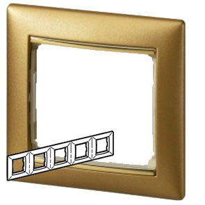 770305 Valena Матовое Золото Рамка 5-ая гориз