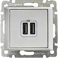 770470 Valena Белый Розетка 2-ая USB