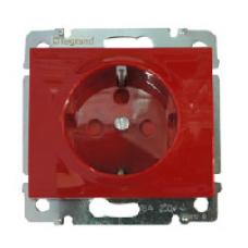 771029 Galea Life Красный Розетка 1-ая с/з с механич блокировкой (использовать с 50299)