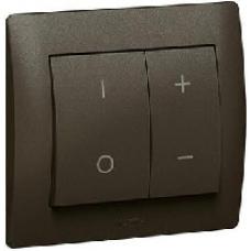 771386 Galea Life Алюминий Накладка светорегулятора нажимного (мех 775652, 775653)