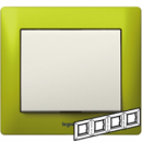 771924 Galea Life Зеленый Металл/Magic Green Рамка 4-я гориз