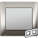 771932 Galea Life Хром/Chrome Рамка 2-я гориз