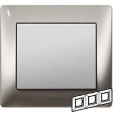 771933 Galea Life Хром/Chrome Рамка 3-я гориз