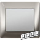 771934 Galea Life Хром/Chrome Рамка 4-я гориз