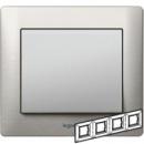 771954 Galea Life Тертый Алюминий/Brushed Aluminium Рамка 4-я гориз