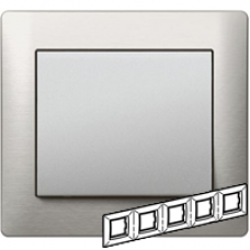 771955 Galea Life Тертый Алюминий/Brushed Aluminium Рамка 5-я гориз