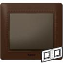 771996 Galea Life Темно-коричневая Кожа/Leather Club Рамка 2-я гориз