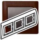 771997 Galea Life Темно-коричневая Кожа/Leather Club Рамка 3-я гориз