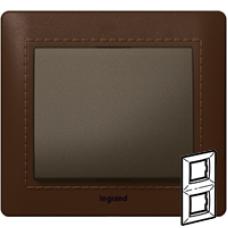 771998 Galea Life Темно-коричневая Кожа/Leather Club Рамка 2-я верт