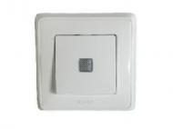 773610 Cariva Бел Выключатель 1-клавишный с подсветкой