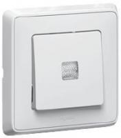 773626 Cariva Бел Переключатель 1-клавишный с подсветкой