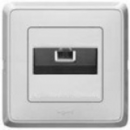 773641 Cariva Бел Розетка компьютерная 1-ая RG 45 UTP 6 кат