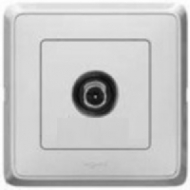 773680 Cariva Бел Розетка TV проходная 14 дБ, 4-2150 МГц