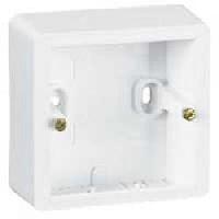 773698 Cariva Бел Коробка для накладного монтажа, 1-мест.